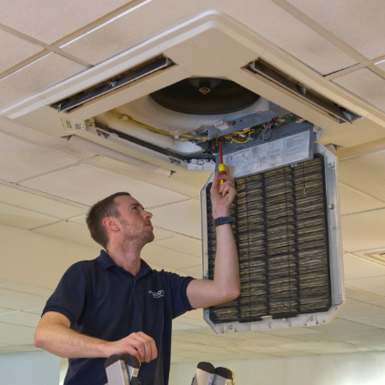 Hospital air conditioning maintenance